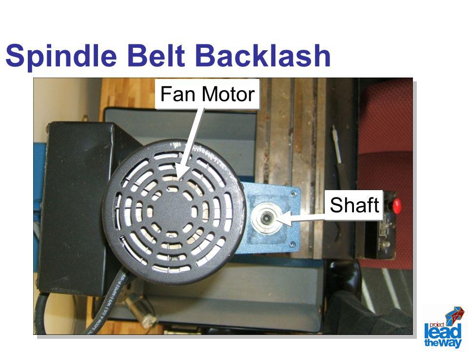 Spindle Belt Backlash Fan Motor Shaft