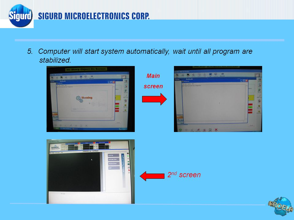 4. Turn the main power switch for both processor. 3. Move to the right side of the machine then open the latch cover of the computer processor.