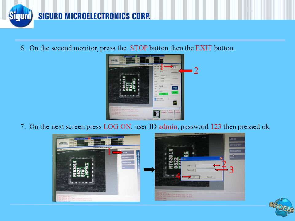 5.On the main screen press the reset count icon, on the next window pressed the Reset all tested units, then closed the windows afterwards. 1 2 3