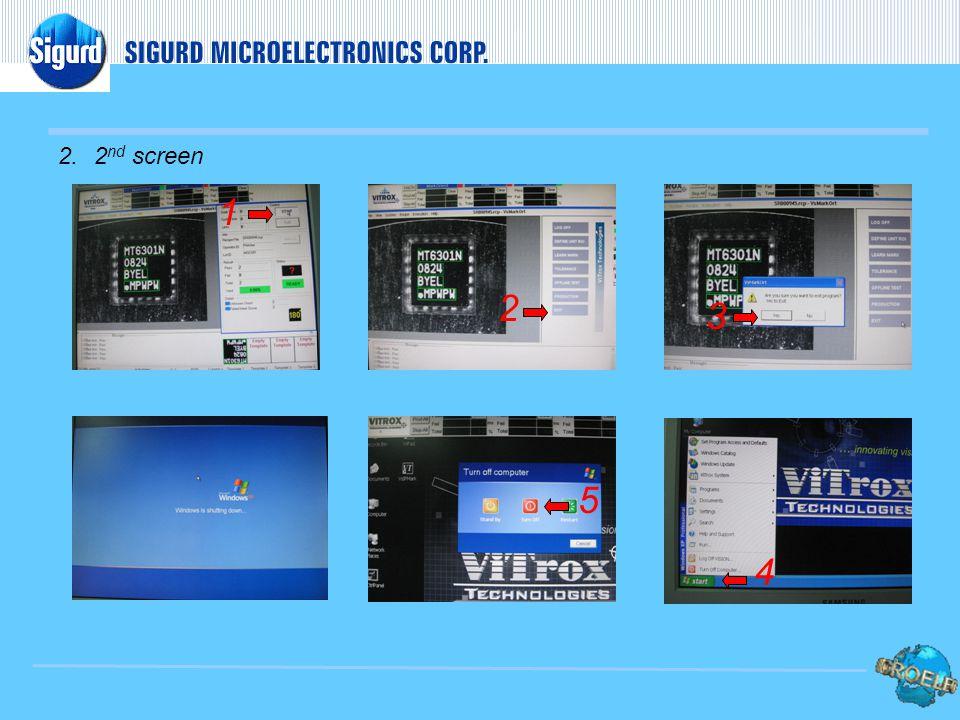 V. EQUIPMENT POWER-OFF 1. Main screen 1 2 3 4