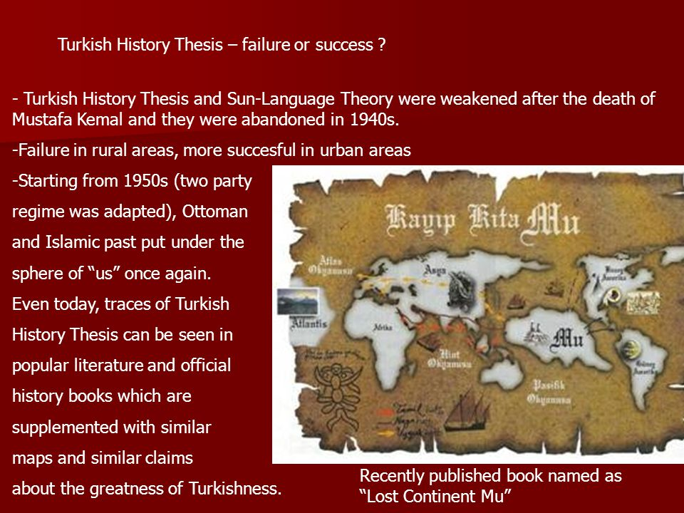 Turkish History Thesis – failure or success .