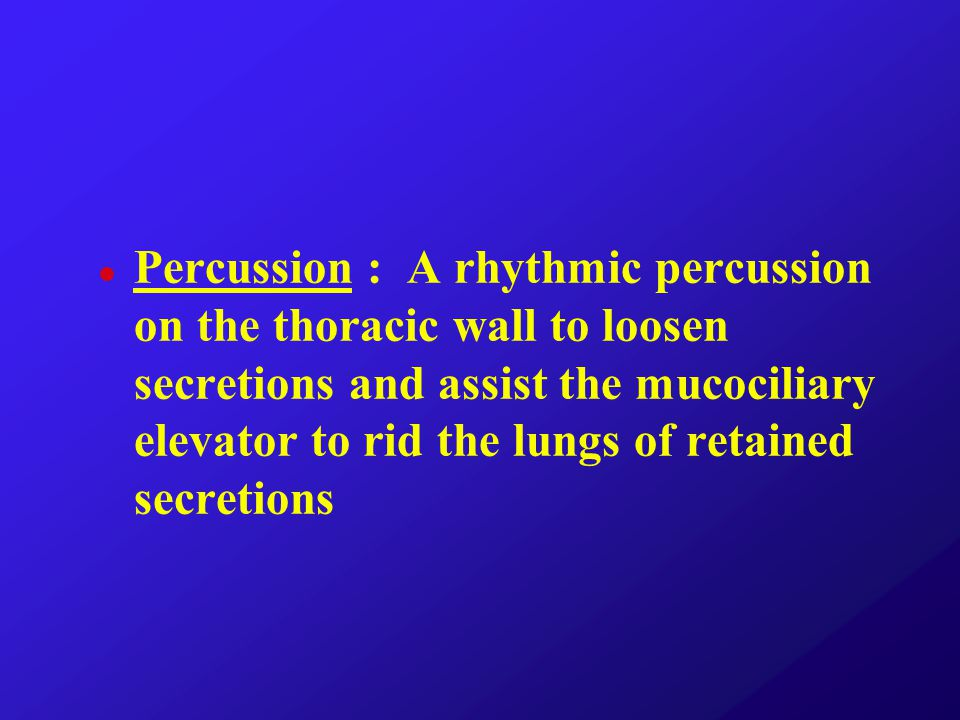 Percussion…How Is Done .