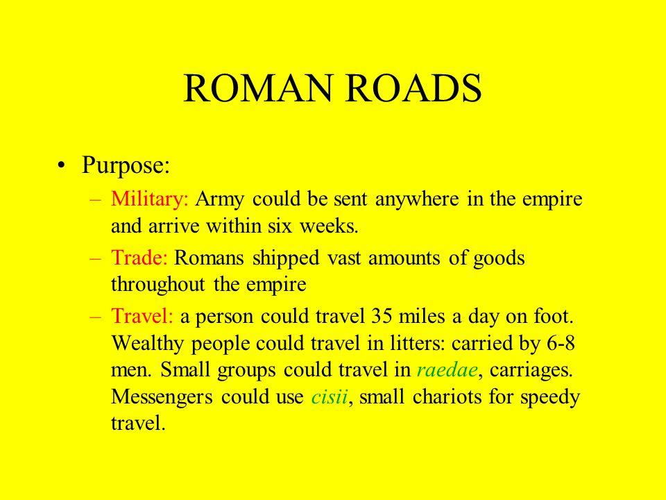 ROMAN ROADS Roman mail carriage