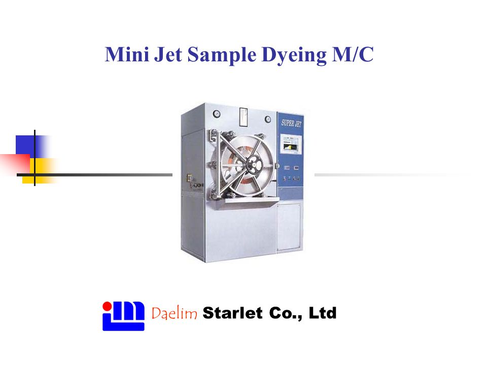 Mini Jet Sample Dyeing M/C Daelim Starlet Co., Ltd