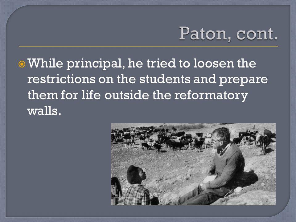  He traveled to study reformatory schools worldwide.