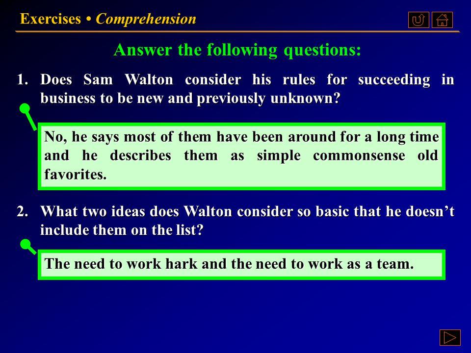 Exercises Comprehension Ex. II, p. 227 《读写教程 IV 》 : Ex. II, p. 227