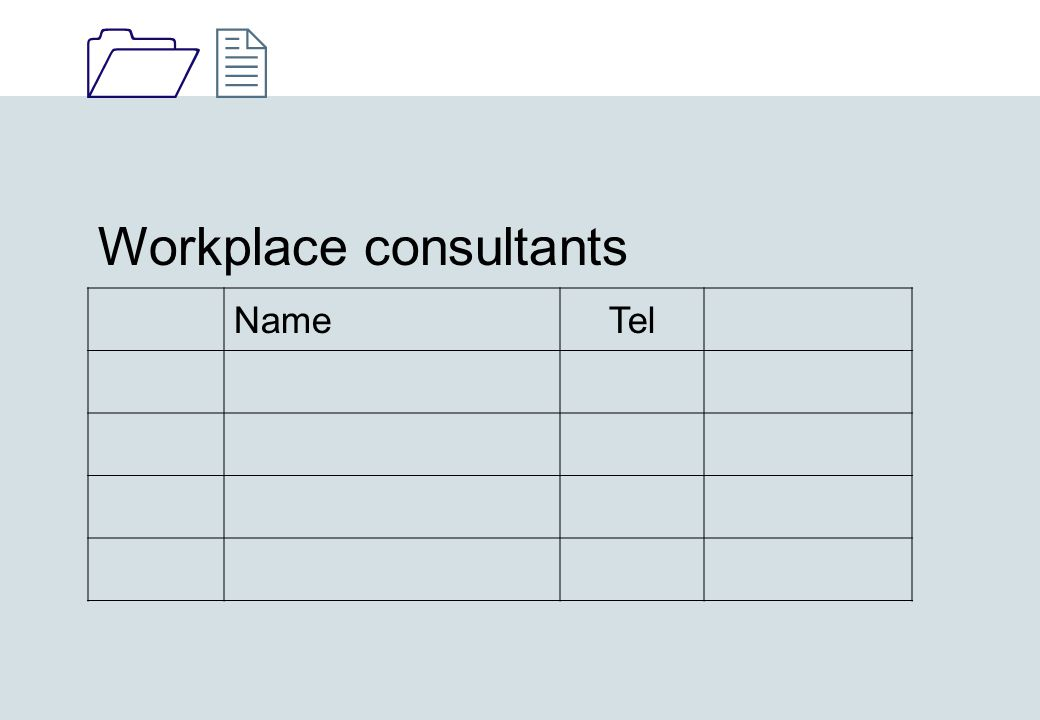 1212 Workplace consultants NameTel