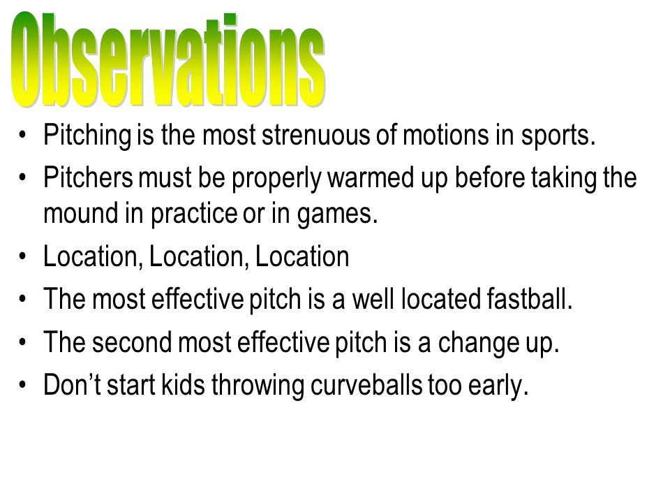 Pitching is the most strenuous of motions in sports.