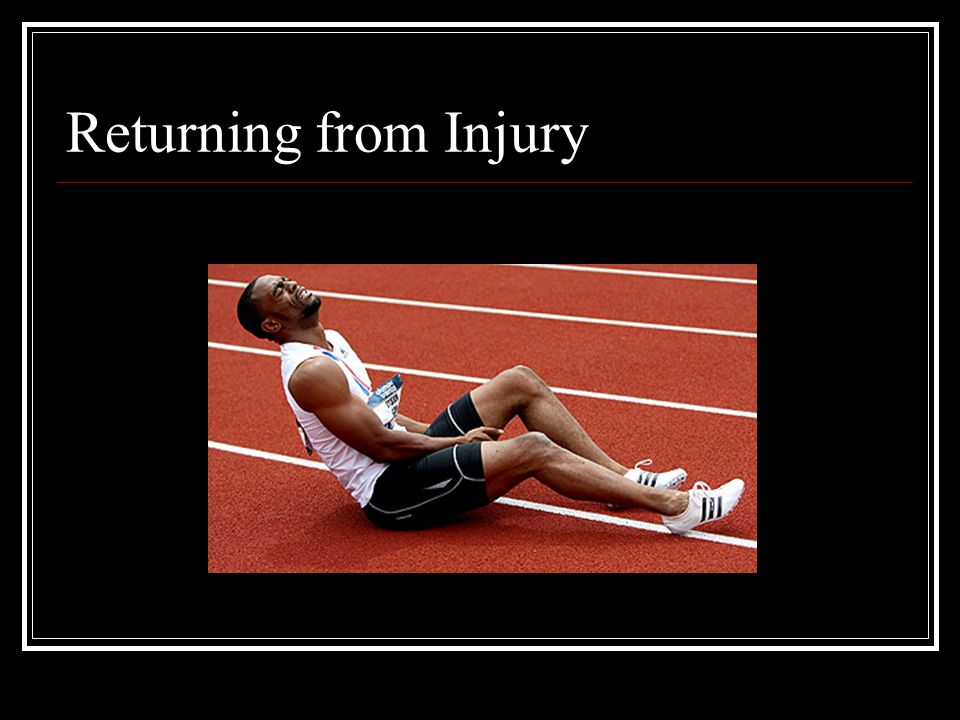 Returning from Injury