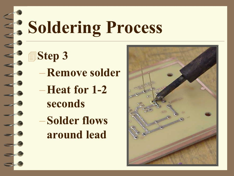 Review 1.What are the four steps for successful soldering.