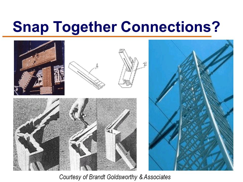 Snap Together Connections Courtesy of Brandt Goldsworthy & Associates