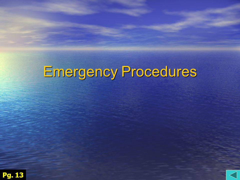 Emergency Procedures Pg. 13