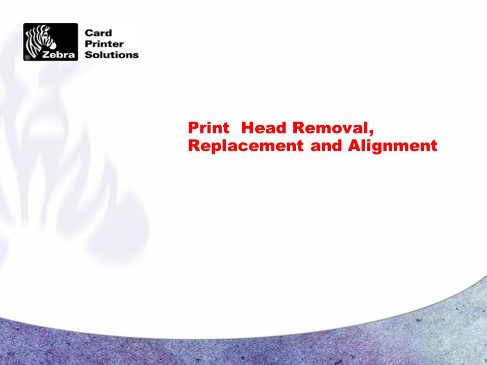 Print Head Removal, Replacement and Alignment