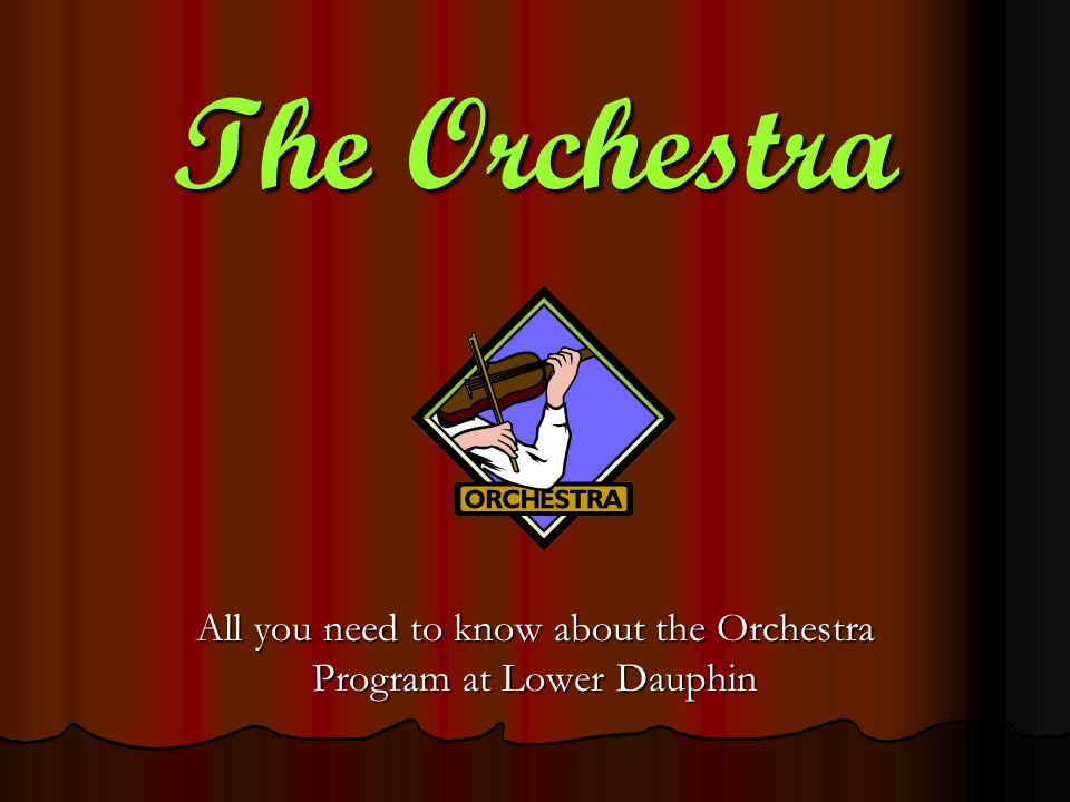 The Orchestra All you need to know about the Orchestra Program at Lower Dauphin