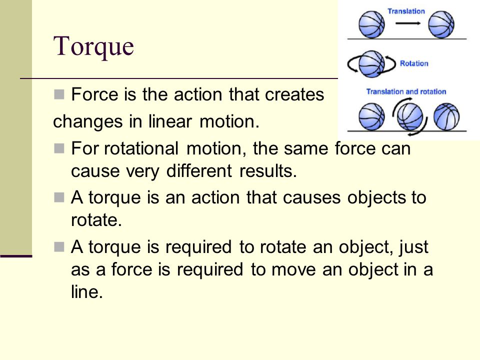 Torque is created by force, but it also depends on where the force is applied and the point about which the object rotates.