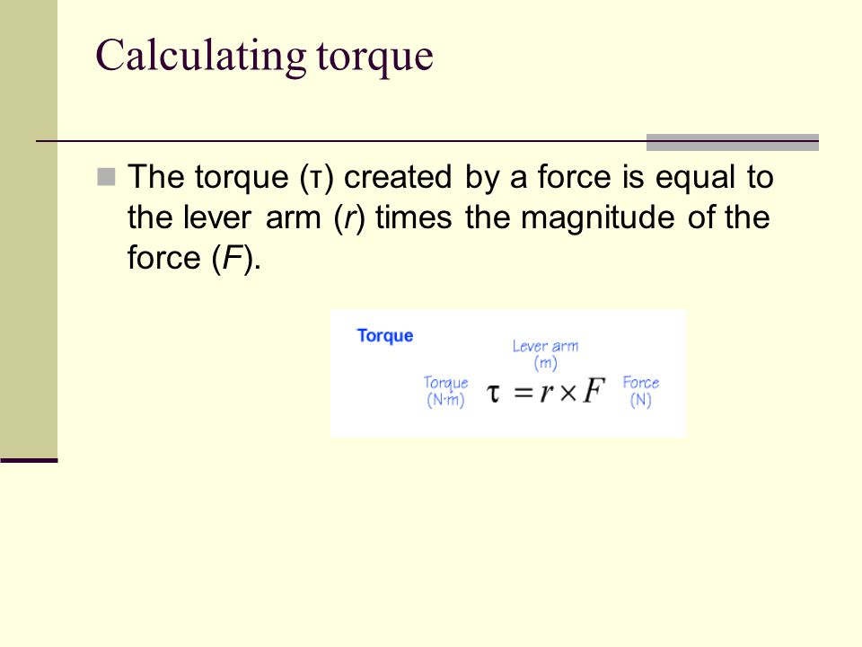 Torques can be added and subtracted If more than one torque acts on an object, the torques are combined to determine the net torque.