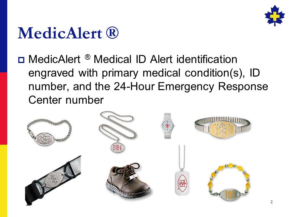 MedicAlert ® 3