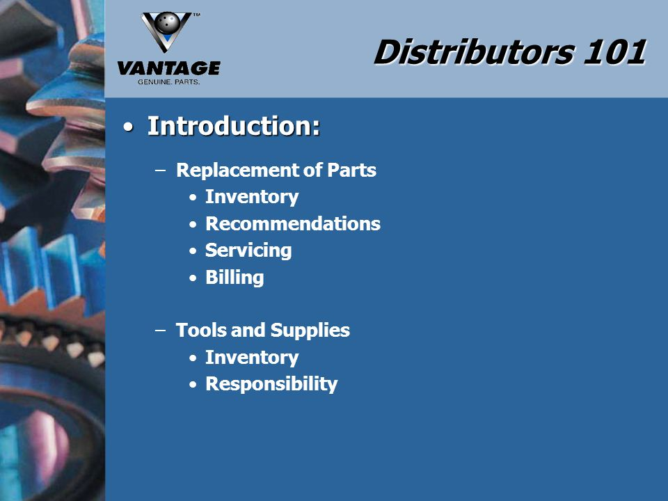 Distributors 101 Disassembly and Inspection:Disassembly and Inspection: –Carriage Assembly Speed of the Carriage Final Distance of the Carriage Runs Free without Binding