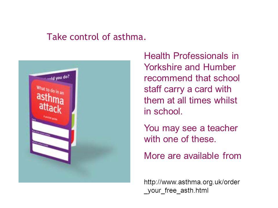 Take control of asthma.