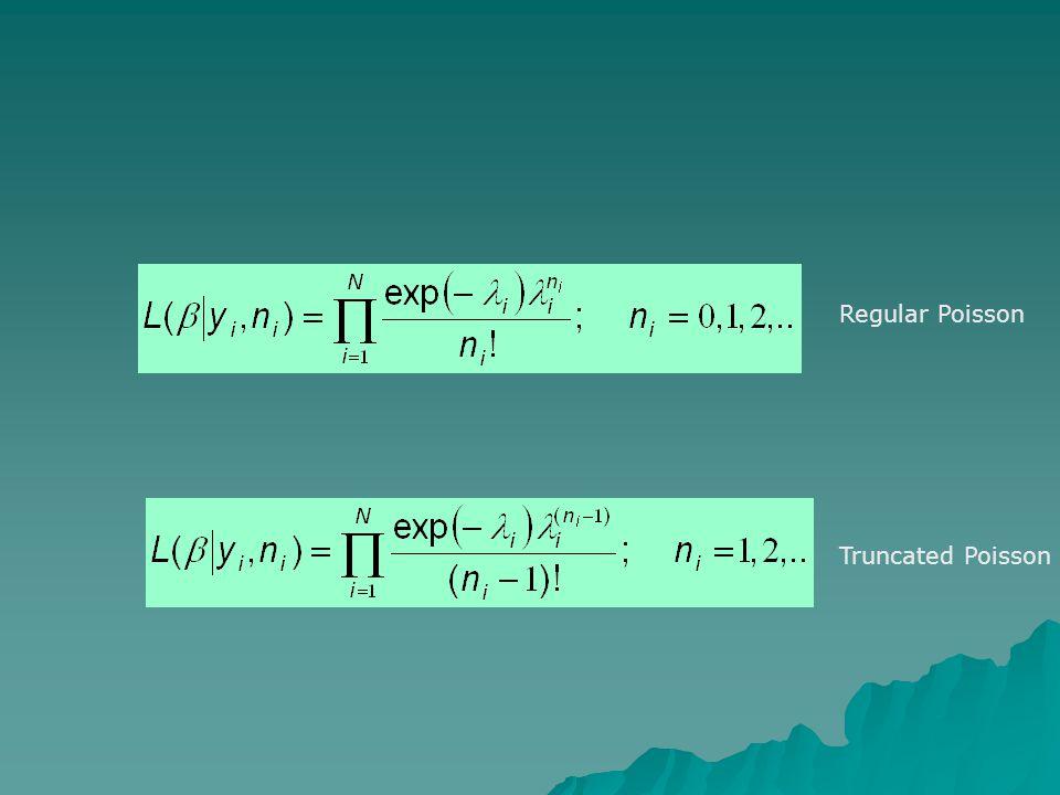 Regular Poisson Truncated Poisson