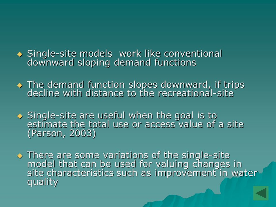  There are differences among models: –Sampling –Statistical distributions –Value of the opportunity cost of time