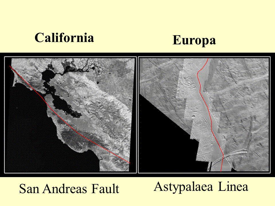 California Europa San Andreas Fault Astypalaea Linea