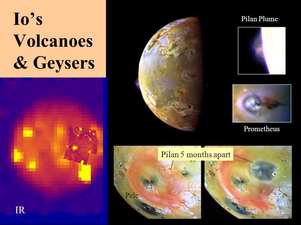 Io's Volcanoes & Geysers IR Pilan 5 months apart Prometheus Pilan Plume Pele