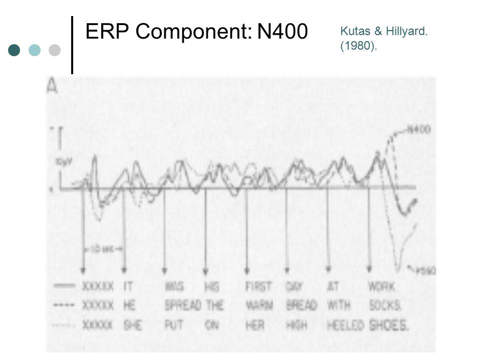 ERP Component: N400 Kutas & Hillyard. (1980).