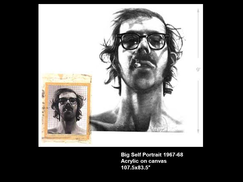 "Big Self Portrait 1967-68 Acrylic on canvas 107.5x83.5"""