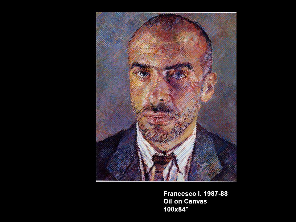 """Francesco I. 1987-88 Oil on Canvas 100x84"""""""