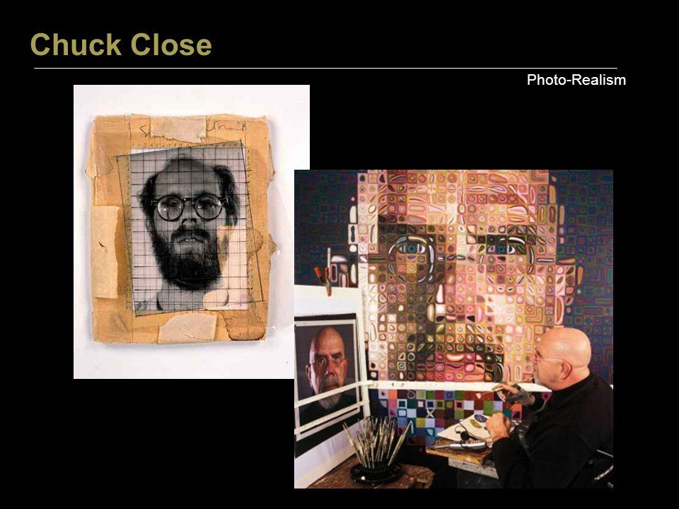 Chuck Close Photo-Realism