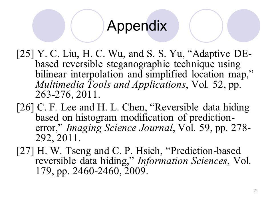 24 Appendix [25] Y. C. Liu, H. C. Wu, and S. S.