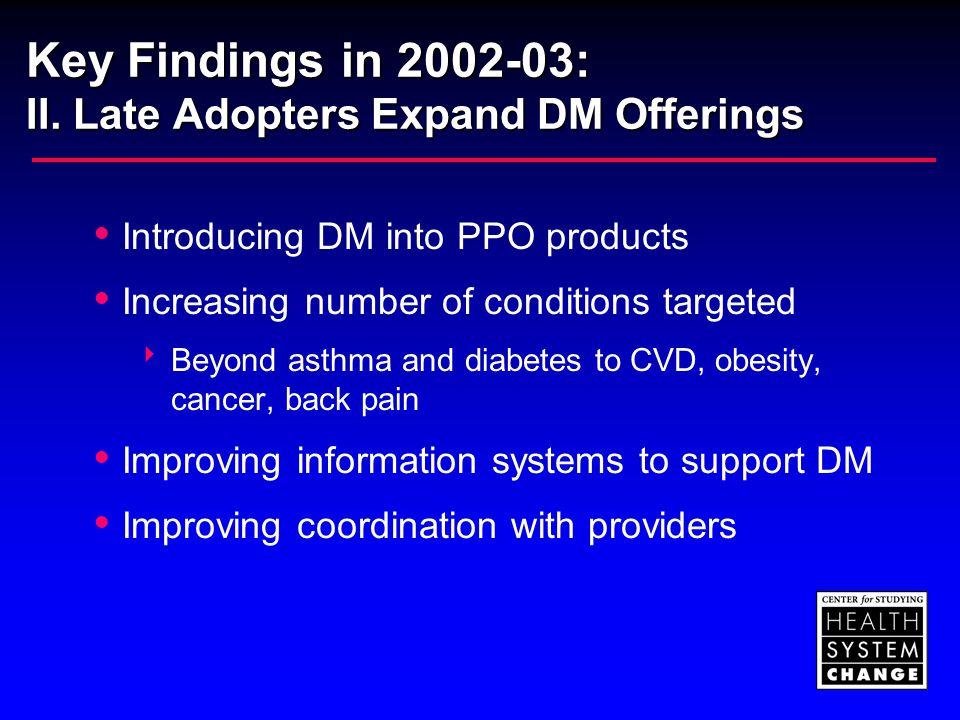 Key Findings in 2002-03: III.