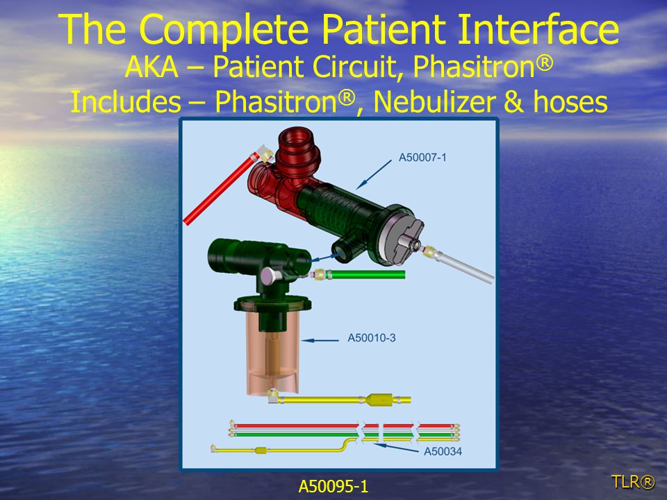 TLR® The Complete Patient Interface AKA – Patient Circuit, Phasitron ® Includes – Phasitron ®, Nebulizer & hoses A50095-1
