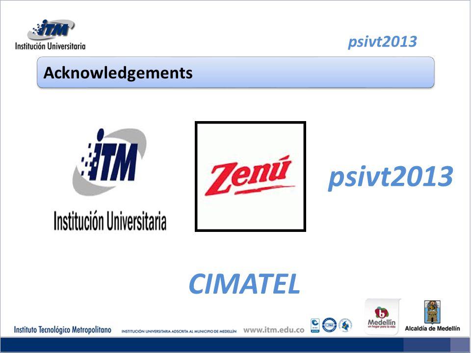 psivt2013 Acknowledgements psivt2013 CIMATEL
