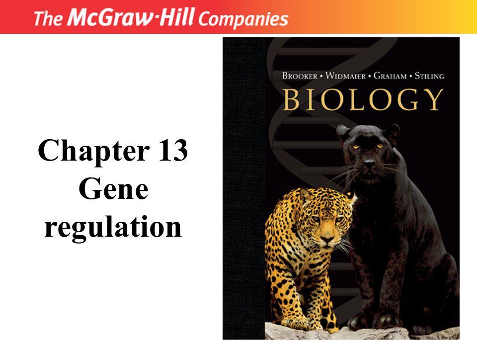 Title Chapter 13 Gene regulation