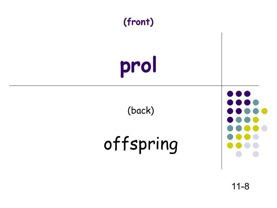 (front) prol (back) offspring 11-8