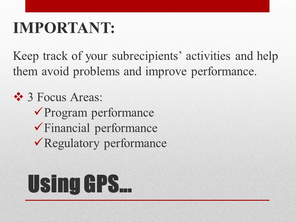 Using GPS...