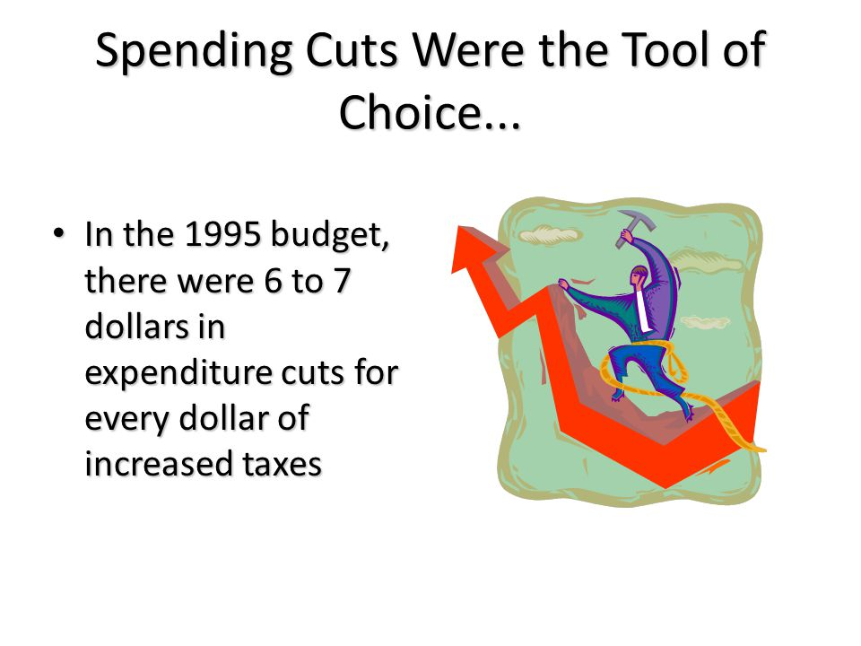 Spending Cuts Were the Tool of Choice...