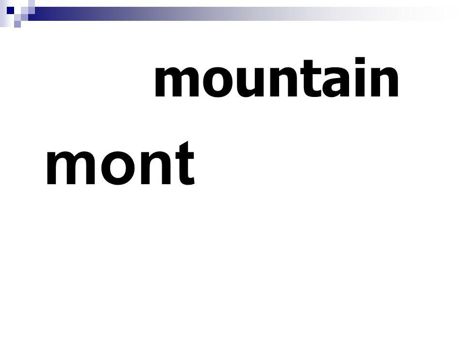 mountain mont