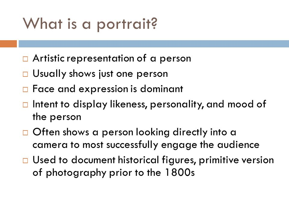 What is a portrait.