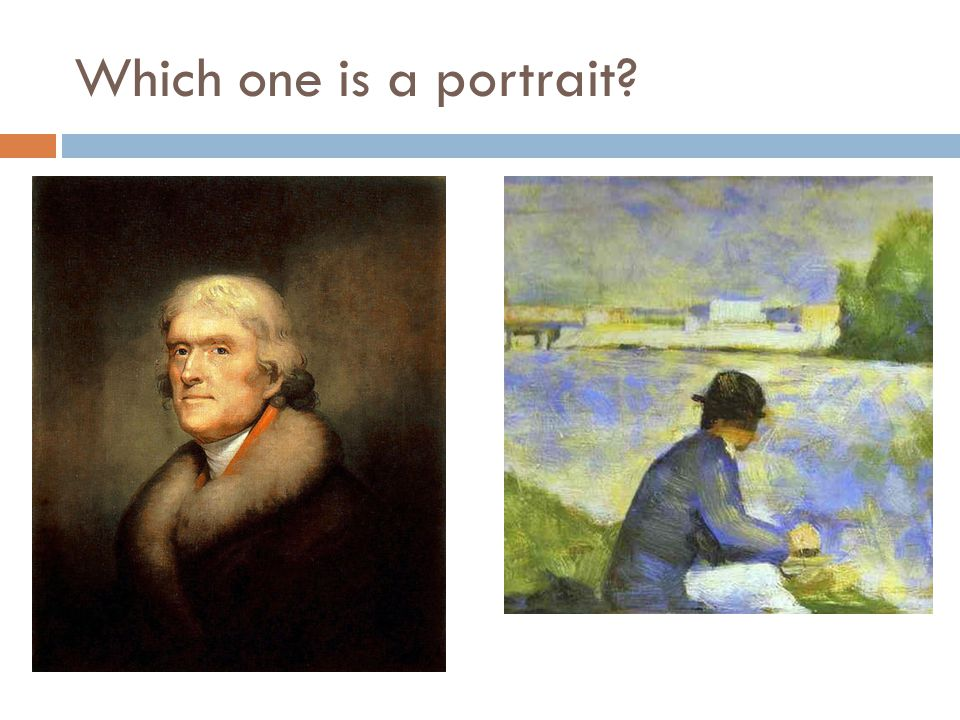 Which one is a portrait