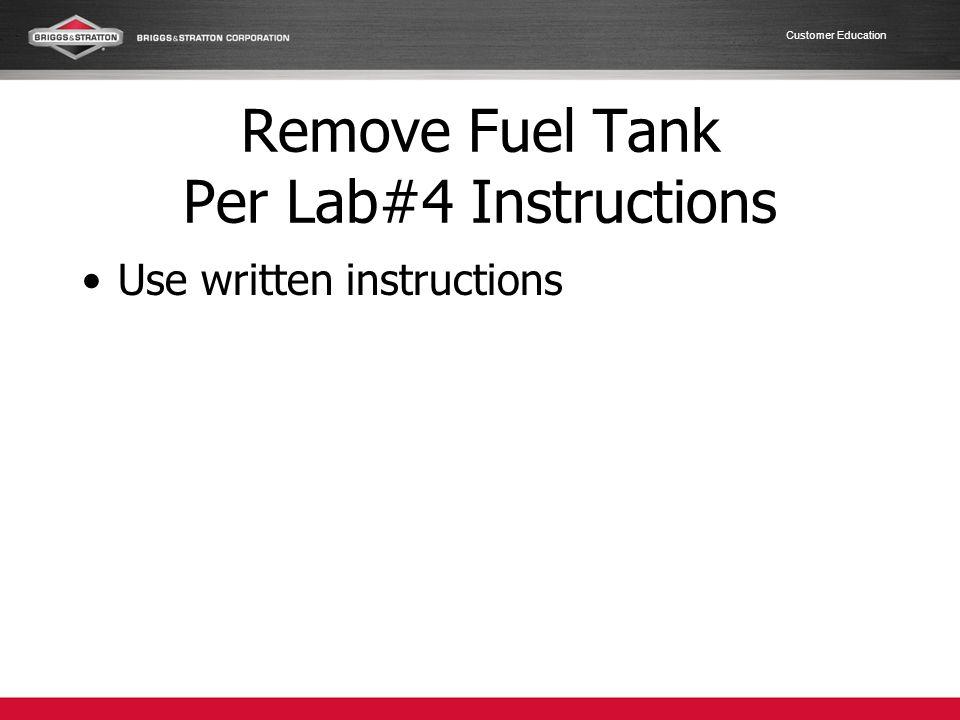 Customer Education Install Muffler Heat Shield Use 7 and 10 mm socket Torque 7 mm to 30 in.