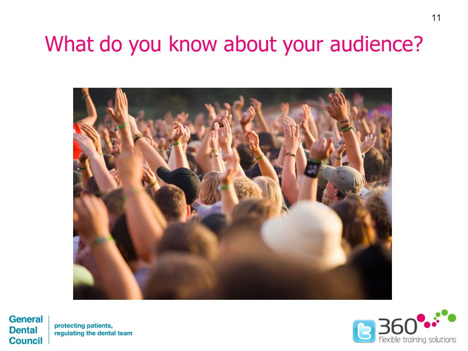 What do you know about your audience 11