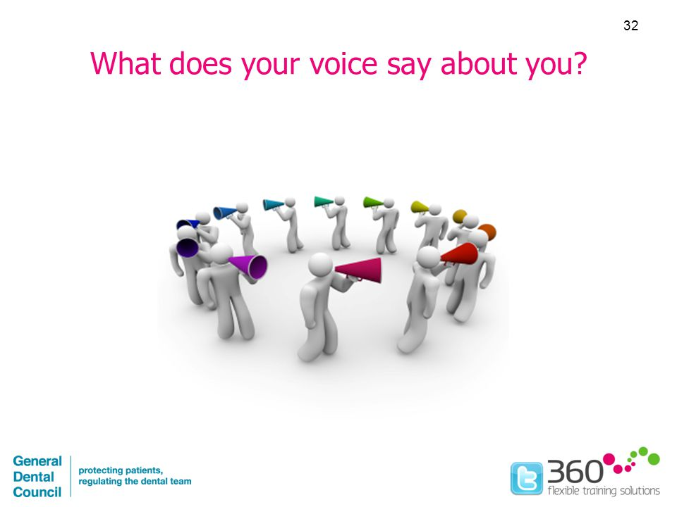 What does your voice say about you 32