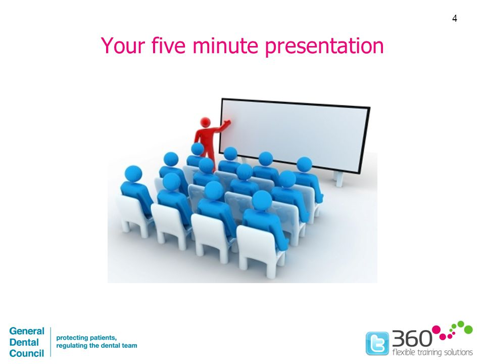 Your five minute presentation 4