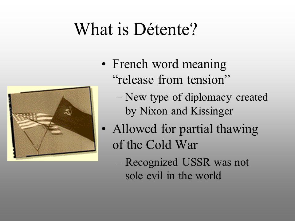 What is Détente.