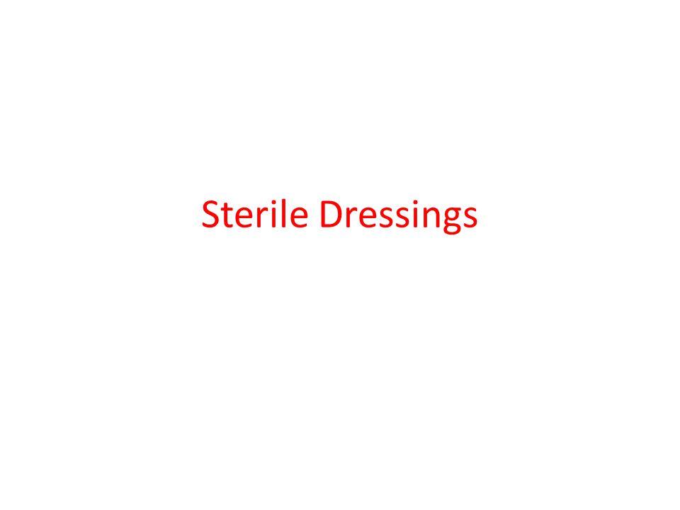 Sterile Dressings