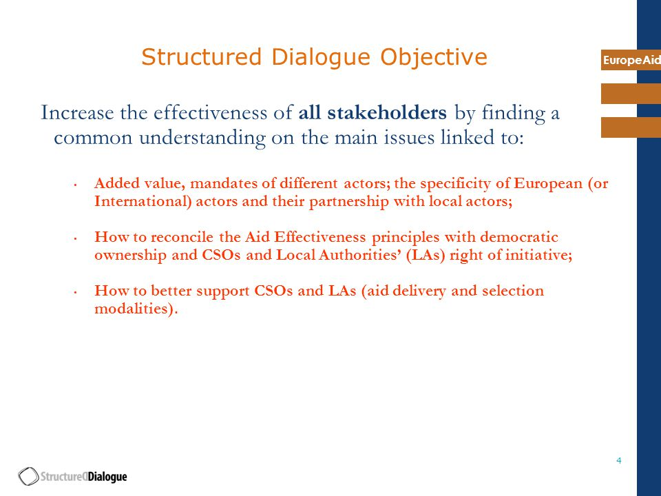 EuropeAid 25 7. New areas for reflection