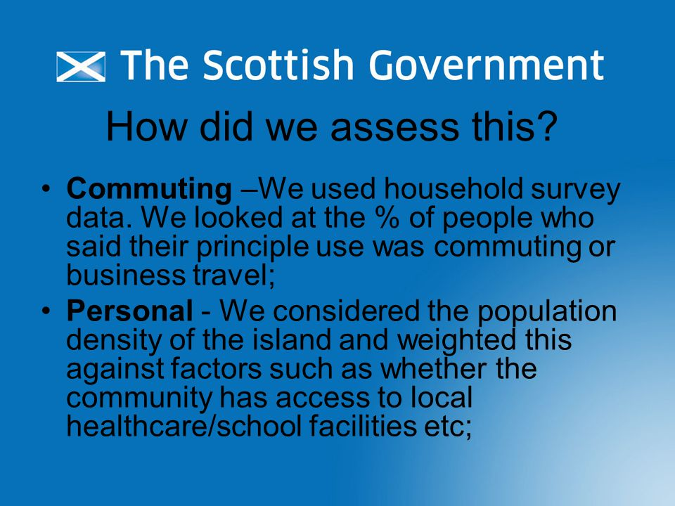 How did we assess this. Commuting –We used household survey data.